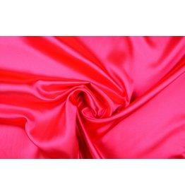 Poly Satijn Fluor roze