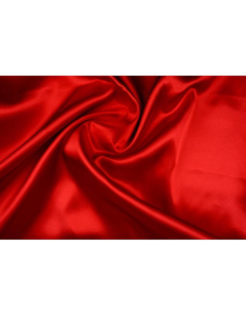 Polyester-Satin Rot