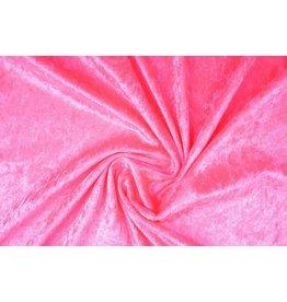 Velours de Panne Fluor roze