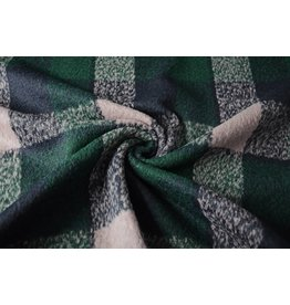 Woolen fabric Dark Green Tartan