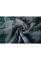 Wollen stof Geruit Donker Groen