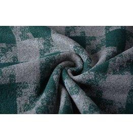 Woolen fabric Tartan Dark Green