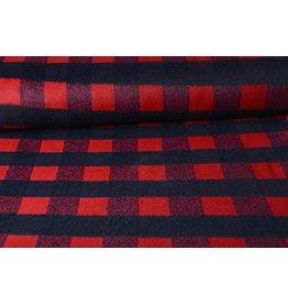 Woolen fabric Tartan Red
