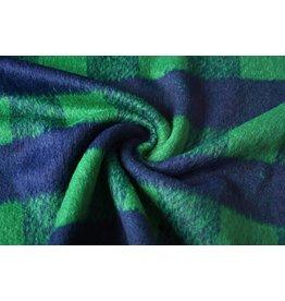 Wollen stof Geruit Groen
