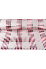Woolen fabric Tartan Red