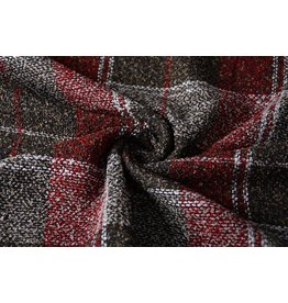 Woolen fabric Bordeaux Brown