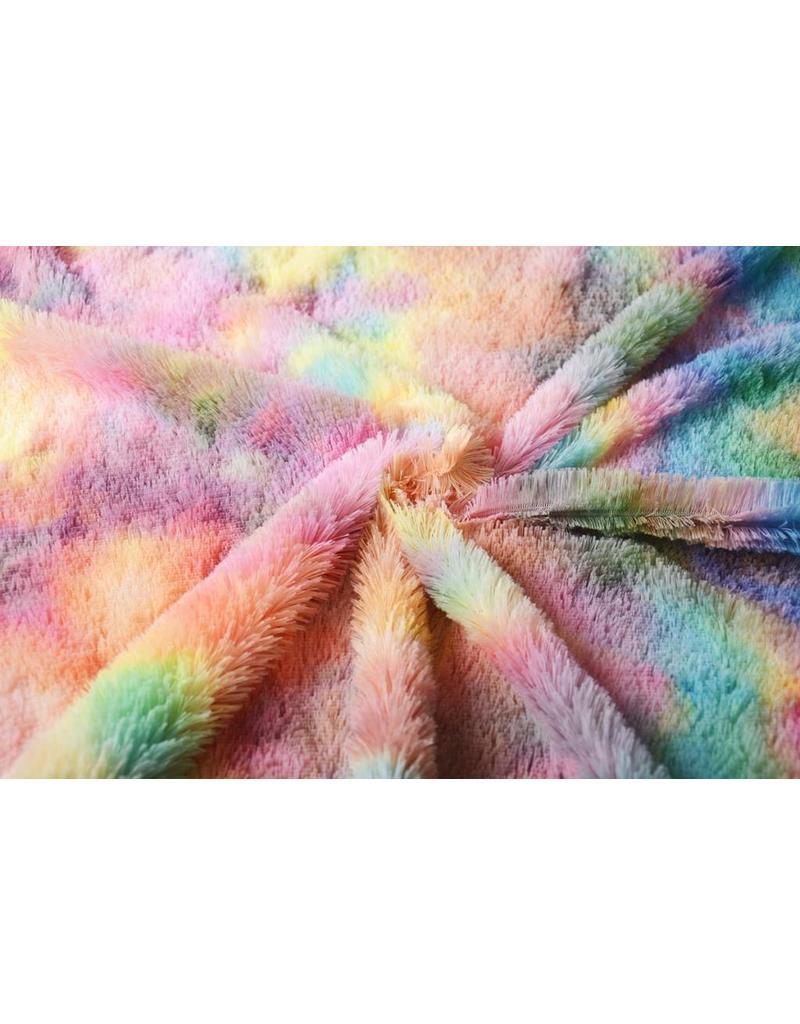 Hairy fur multi color