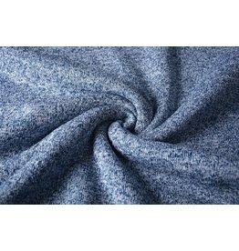 Knitted Jogging, Fur Melange White Blue