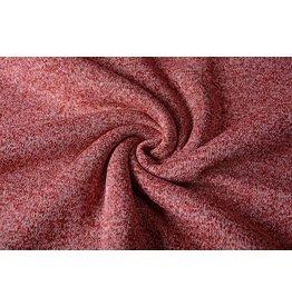 Knitted Jogging, Fur Melange Red