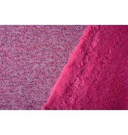Knitted Jogging, Fur Melange Pink