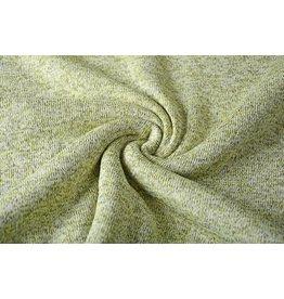 Sweatstoff Gestrickt, Bunt Melange Limettengrün