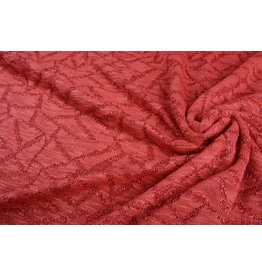 Jacquard Abstract lines with glitter Red