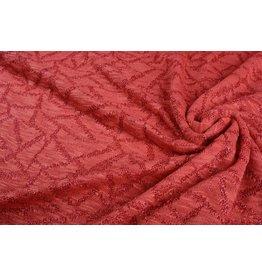 Jacquard Abstracte lijnen met glitter Rood