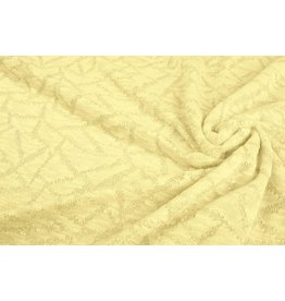 Jacquard Abstract lines with glitter Citron Yellow