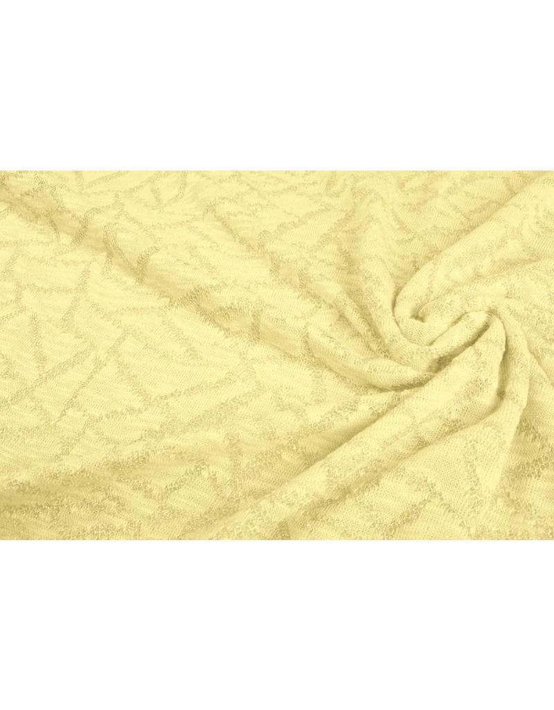 Jacquard Abstracte lijnen met glitter Citroen Geel