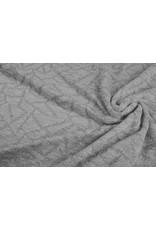 Jacquard Abstracte lijnen met glitter Zilver