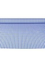 Baumwoll-Stretch Raster Kobaltblau