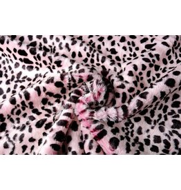 Hairy Imitation Fur Cheetah print Pink