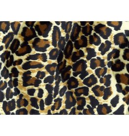 Velboa Dunkel Medium Leopardenmotiv