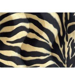 Velboa zebraprint Zwart-Zand