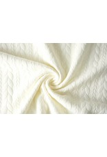 Knitted Cable fabric tricot Creme