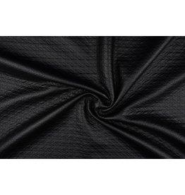 Jersey lamé pierced mat Mat black 1