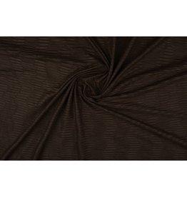 Suede plissé Dark brown
