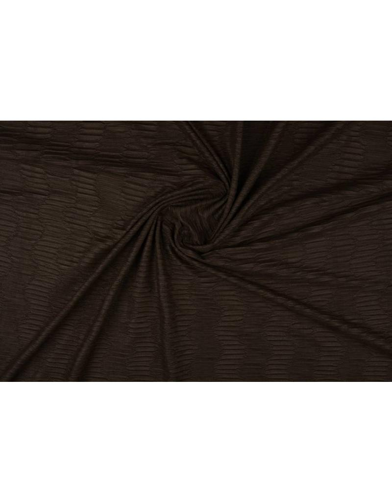 Suede plissé Donker bruin