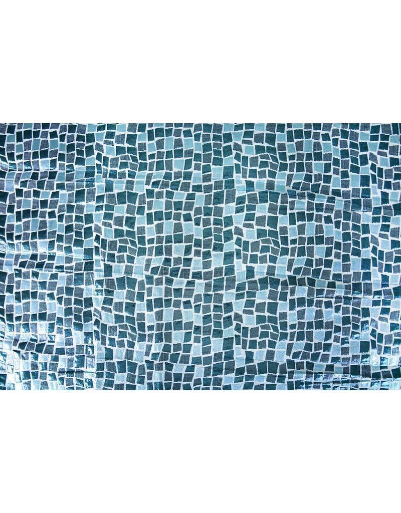 Brokat Quadrate Blau