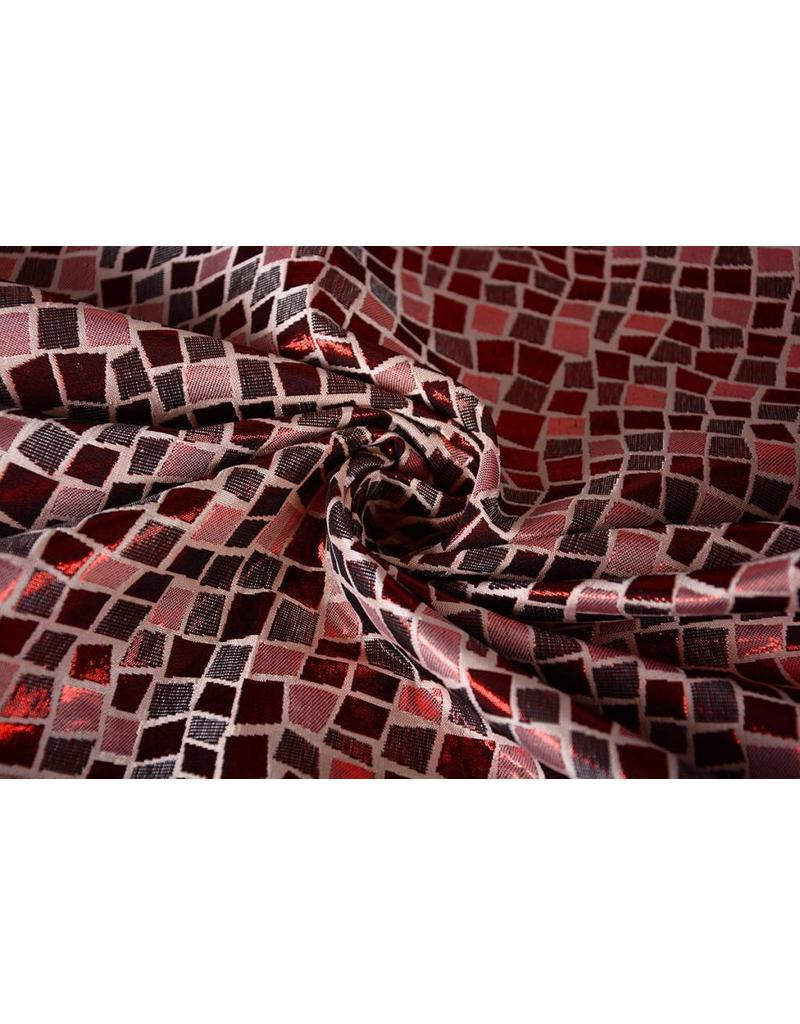 Brokat Quadrate Rot
