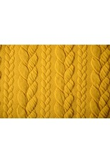 Knitted Cable fabric tricot Ocher