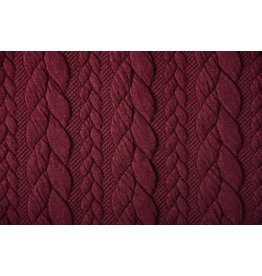 Knitted Cable fabric tricot Bordeaux