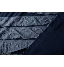 Jersey Lagensaum Marineblau