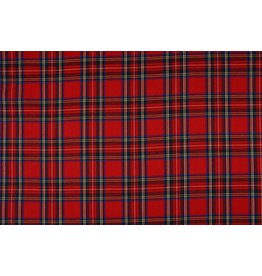 Scottish checks Middle stretch Red