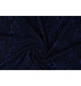 Jersey Flock Schlangenmotiv Königsblau