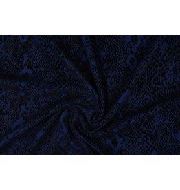 Tricot Flock Snakeprint Royal Blue