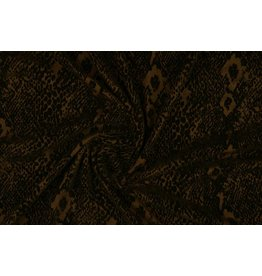 Tricot flock Snakeprint Brown