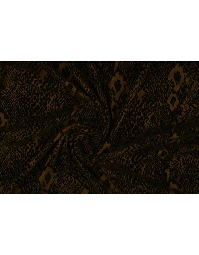 4 Metres Printed lilac snake viscose elastaine dress fabric