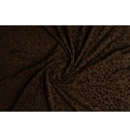 Tricot flock Panterprint Brown