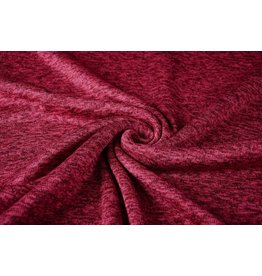 Knitted Fleece Wine Red