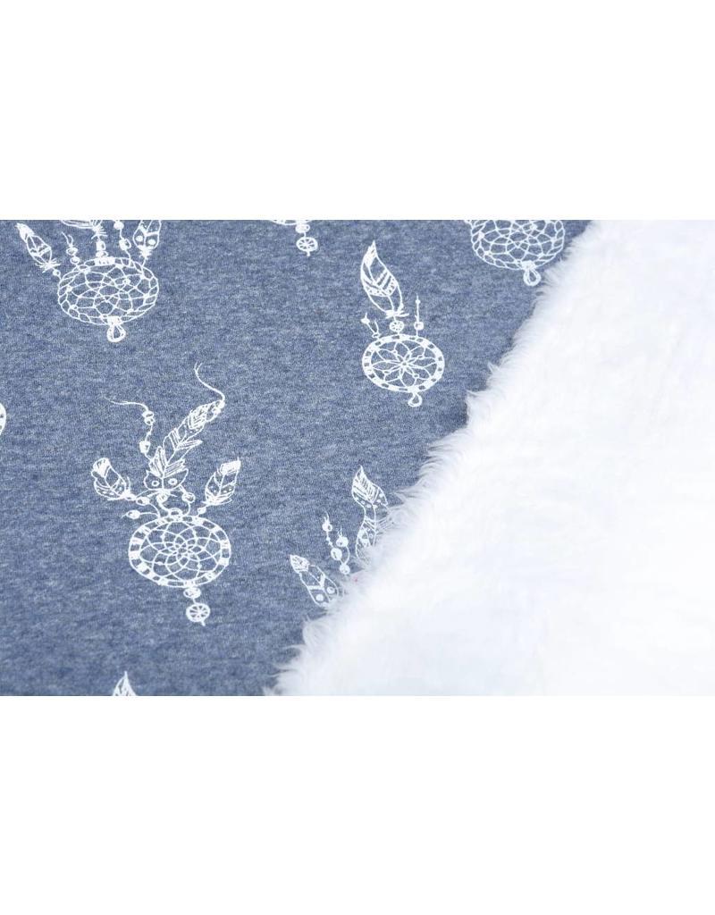 Sweatstoff Alpenfleece Traumfänger Jeans