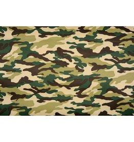 Armee Polyester Baumwolle Grün-Braun