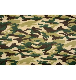 Army Polyester Cotton Green-Brown