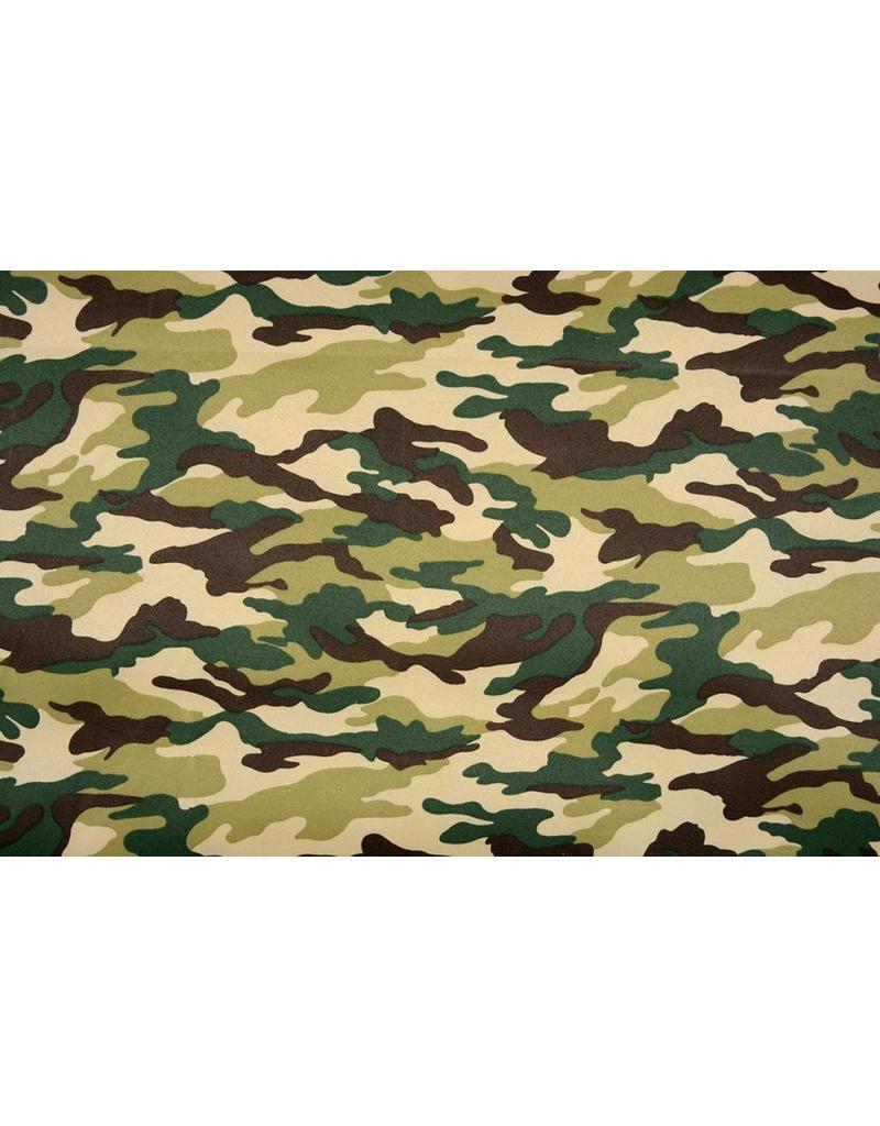 Army Polyester Katoen Groen-Bruin