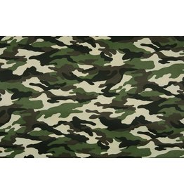Army Polyester Cotton Dark green-dark brown