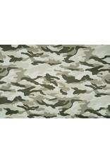Armee Polyester Baumwolle Beige-Grün