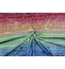 Jersey Viscose Small stripe Multicolor 1