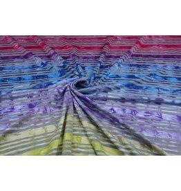 Jersey Viscose Small stripe Multicolor 2