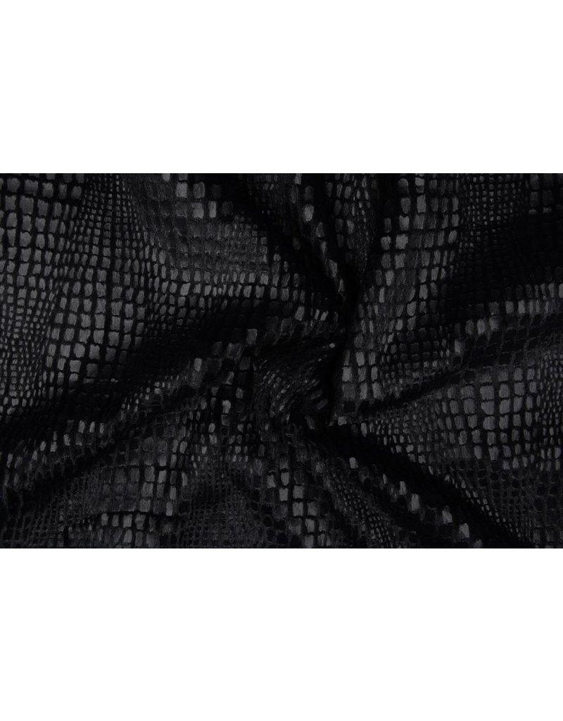 Fur Snake Foil Shiny Zwart