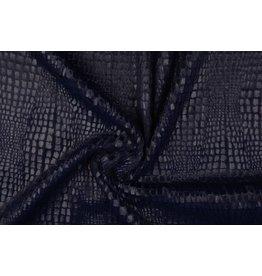 Fur Snake Foil Shiny Navy